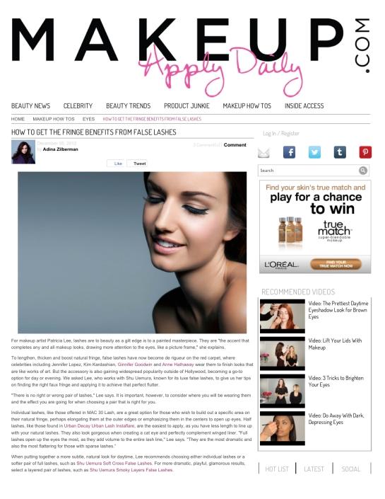 How to Apply False Eyelashes | Makeup.com