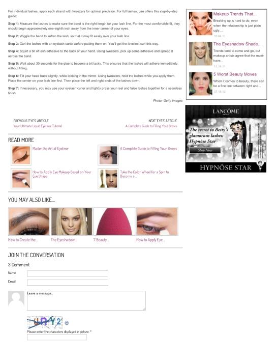 How to Apply False Eyelashes | Makeup.com2